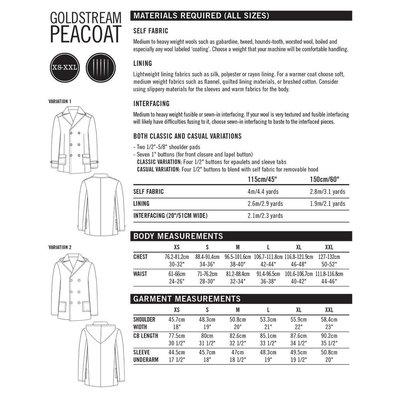 Patroon Peacoat - Goldstream Peacoat (Thread Theory - pdf-patroon)