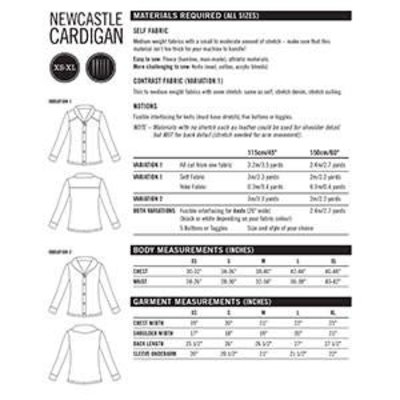 Patroon Newcastle Cardigan (Thread Theory pdf-patroon)