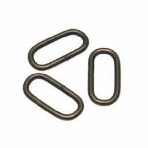 Metalen passant 38 mm brons