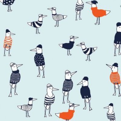 Katoen - Dear Stella - Seagulls in Aquamarine