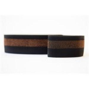 See you at six - Elastische tailleband - Zwart met koperen lijnen
