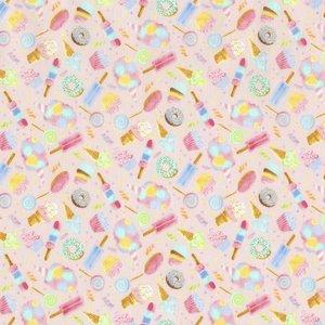 Katoen - Timeless Treasures - Donuts & ijsjes (klein)