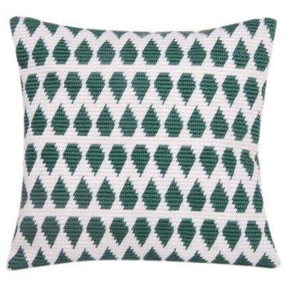 DIY-pakket - Borduren - Kussen Geometrisch Groen/Wit