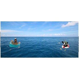 Tricotpaneel - Op het water