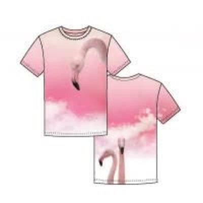 Tricotpaneel - Flamingo in de wolken