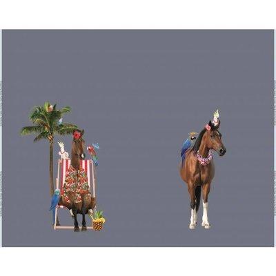 Tricotpaneel - Paard in strandstoel