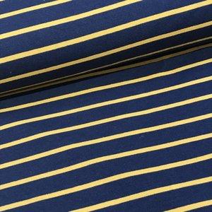 French Terry - Yarn dyed navy-ochre