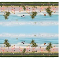 Tricot border - Pelikaan & flamingo