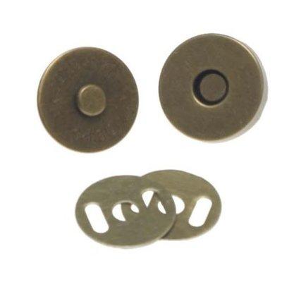 Magneetsluiting brons groot (18mm)