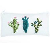 Borduurpakket - Etui met cactussen
