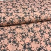Viscose - Mandarin fleurs