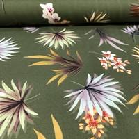 Badstof/badkledij - Flowers green