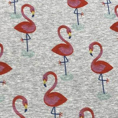 Tricot - Hilco - Jungle Melange Flamingo