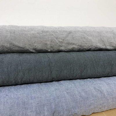 Linnen - Pellava Antraciet/blauw