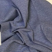 Boordstof - Streepjes Blauw-wit
