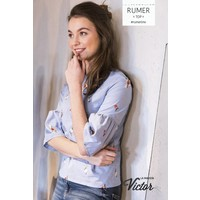 Katoen - Rumer blauw (La Maison Victor)