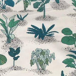 Katoen - Ecru Planten