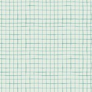 Gelamineerd Katoen - Munt groen geruit