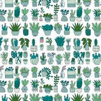 Gelamineerd Katoen - Wit Cactus Neon