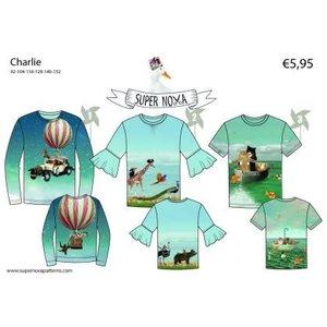 Supernova Charlie - patroon t-shirt