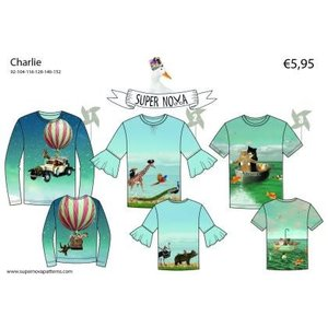 Supernova Patroon voor t-shirts - Charlie