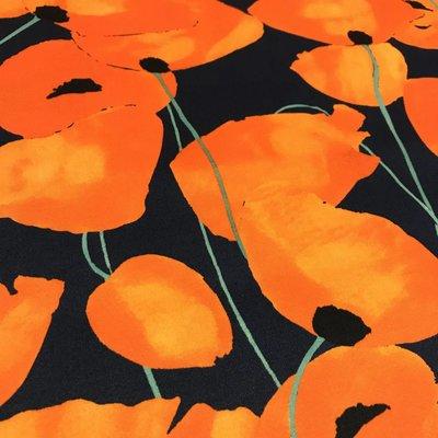 Stretchkatoen - Poppy flower