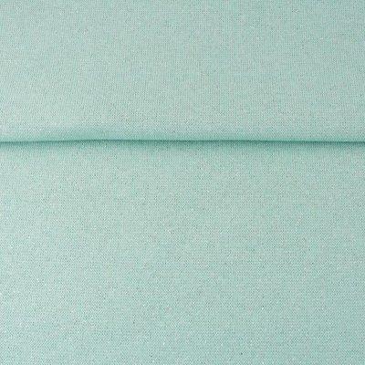 Boordstof - Mint-Lurex zilver