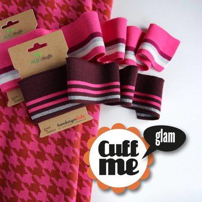Albstoffe Cuff me Glam - Rose