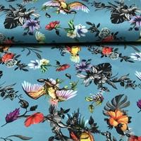 Megan Blue Fabrics Tricot -Tropical Blue