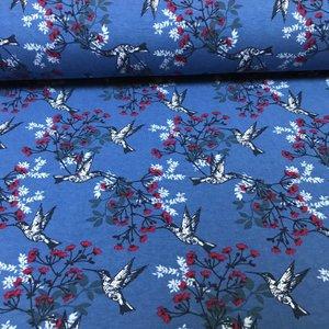 Megan Blue Fabrics Tricot - Kolibrie