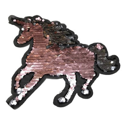 Omkeerbare pailletten - Unicorn oudroze