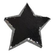 Omkeerbare pailletten - Ster zwart