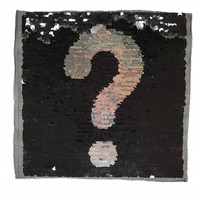 Omkeerbare pailletten - Vraagteken/uitroepteken