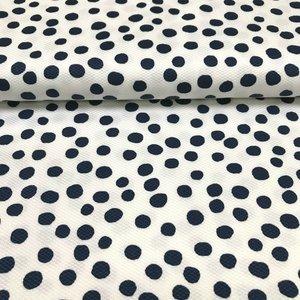 Piqué - Dots blauw