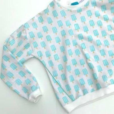 French terry - About blue fabrics - ijsjes blauw