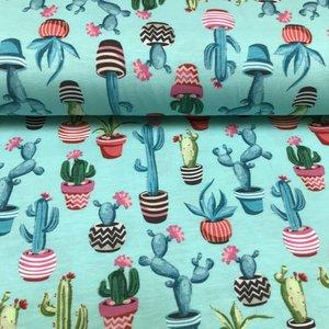 Tricot - Digital Joyful Cactus Mint