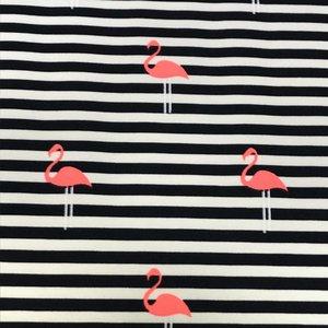 Tricot - Flamingo-marine strepen