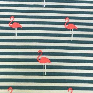 Tricot - Flamingo-petrol strepen