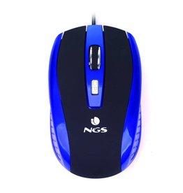 NGS NGS Blue Tick - Computermuis Bedraad - Blauw/ Zwart
