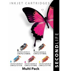 Secondlife Canon PGI 570 / 571 Multipack ( 5 stuks )
