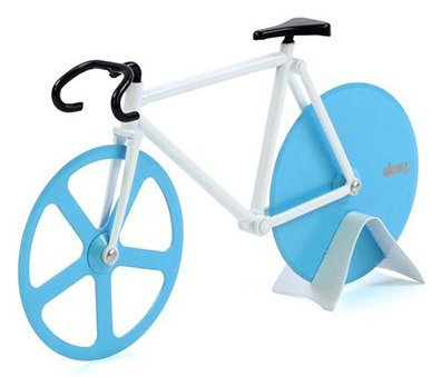Pizza cutter blue / white