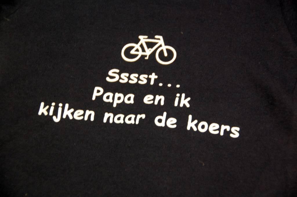 T-shirt kinderen Sst papa en ik blauw