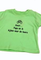 T-shirt kinderen Sst papa en ik groen