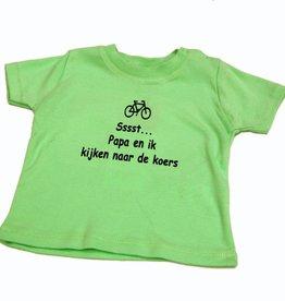 T-shirt kinderen Sst papa en ik - groen