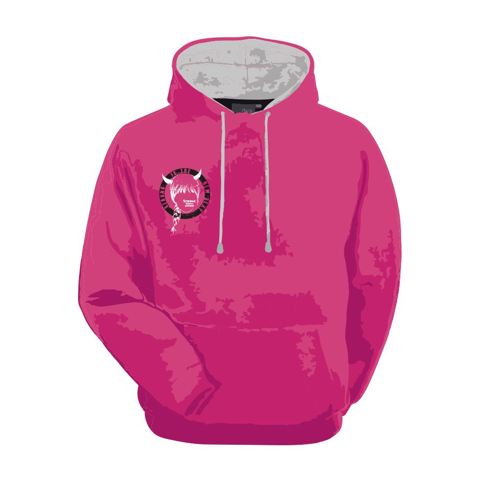 Strong Viking Women's Pink Hoodie