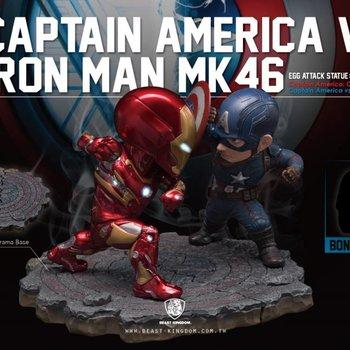 Beast Kingdom Marvel Egg Attack: Civil War - Captain America vs Iron Man Statue