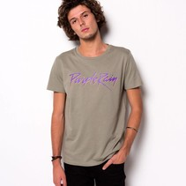 MILITARY GREEN PURPLE RAIN T-SHIRT