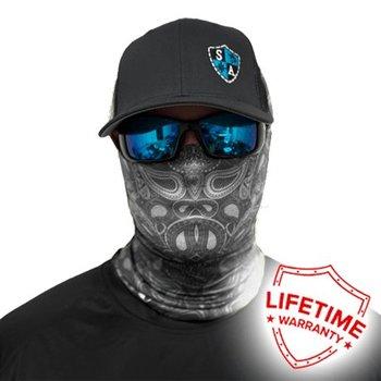 SA Co. Face Shield™ SA BLACK & WHITE PAISLEY