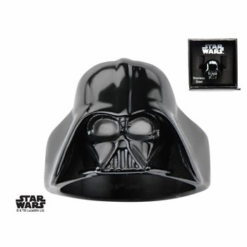Starwars Stainless Steel Black PVD Plated Star Wars 3D Darth Vader Ring SIZE 12