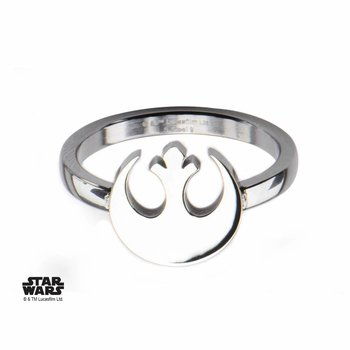 Starwars Women's Stainless Steel Star Wars Rebel Alliance Symbol Cut Out Petite Ring SIZE 6